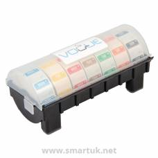 "Dissolvable Colour Coded Food Label Starter kit with 1"" Dispenser"