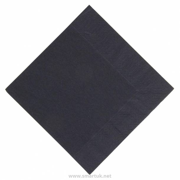 Duni Lunch Napkin Black 330mm