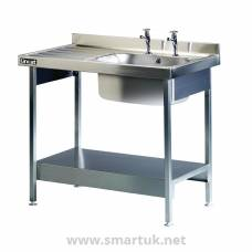 Lincat Stainless Steel Single Sink Unit with Left Hand Drainer