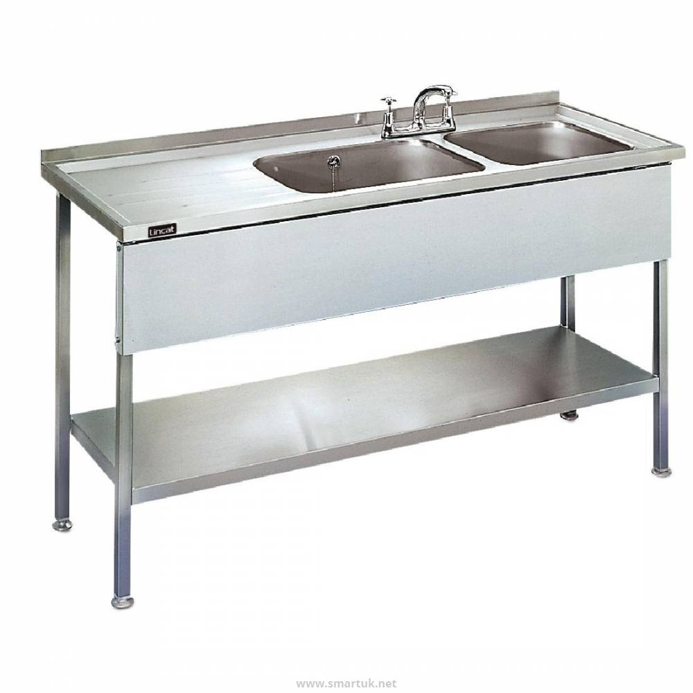 57400b3ab6 Lincat Stainless Steel Double Sink Unit with Left Hand Drainer by  Lincat-GJ707 - Smart Hospitality Supplies