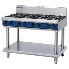Blue Seal Evolution Cooktop 8 Open Burners Natural Gas on Stand1200mm G518D-LS/N