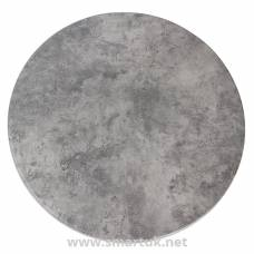 Werzalit Pre-drilled Round Table Top  Concrete 800mm