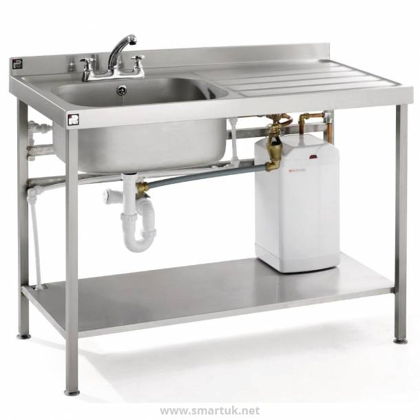Parry Stainless Steel Fully Assembled Sink Right Hand Drainer 1200mm