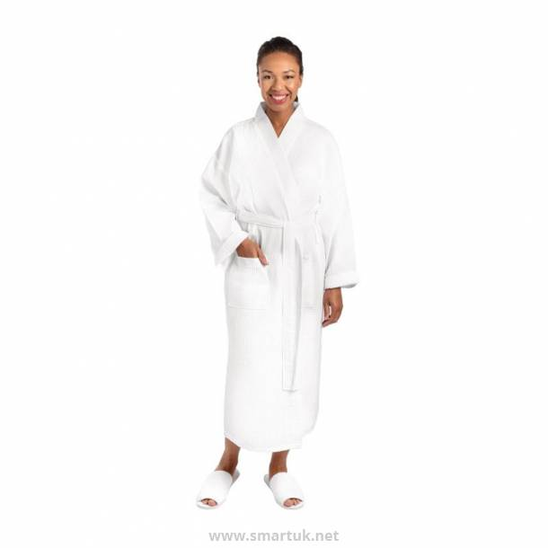 Mitre Essentials Honeycomb Bathrobe Large White