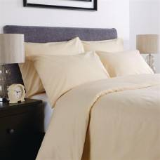 Mitre Comfort Percale Flat Sheet Oatmeal Double