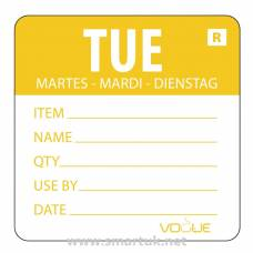 Vogue Removable Day of the Week Label Tuesday
