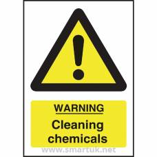 Warning Cleaning Chemicals Sign