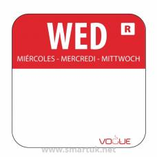 Vogue Removable Colour Coded Food Labels Wednesday