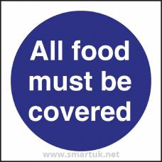 Vogue All Food Must Be Covered Sign