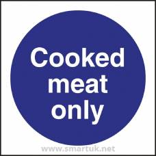 Vogue Cooked Meat Only Sign