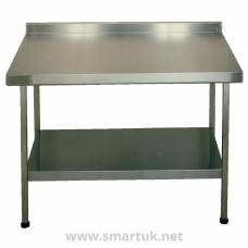 Franke Sissons Stainless Steel Wall Table with Upstand 1800x650mm