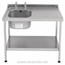 Franke Sissons Self Assembly Stainless Steel Sink Right Hand Drainer 1200x600mm