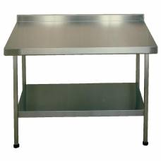 Franke Sissons Stainless Steel Wall Table with Upstand 1800x600mm