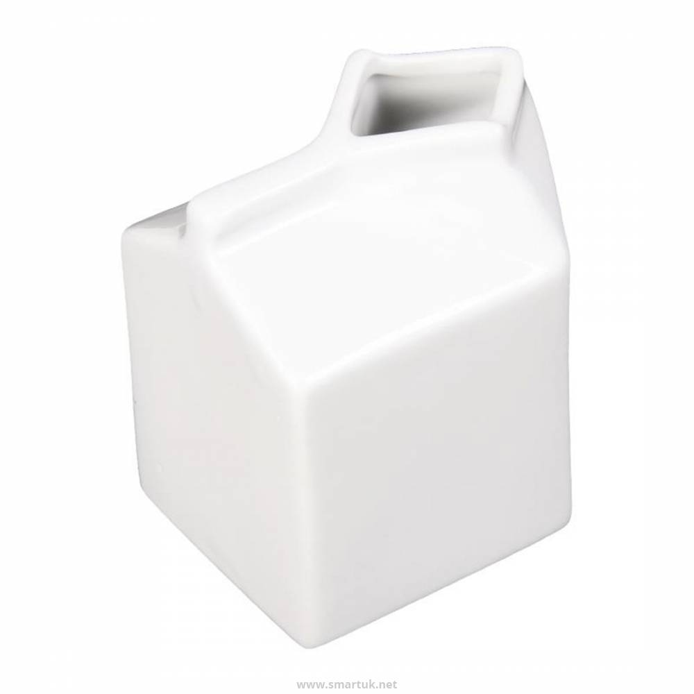 Olympia Whiteware Porcelain Milk Jug Carton 155ml By Sa270 Smart Hospitality Supplies