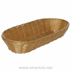 Poly Wicker Large Baguette Basket