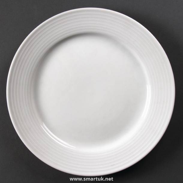 Olympia Linear Wide Rimmed Plates 250mm