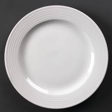 Olympia Linear Wide Rimmed Plates 310mm