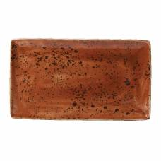 Steelite Craft Terracotta Rectangular Platters 330x 190mm