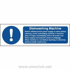 Vogue Dishwasher Machine Safety Sign