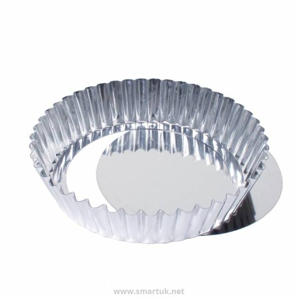 Deep Fluted Quiche Tin With Removable Base 25cm