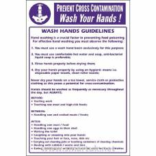 Vogue Prevent Cross Contamination Wash Hands Sign