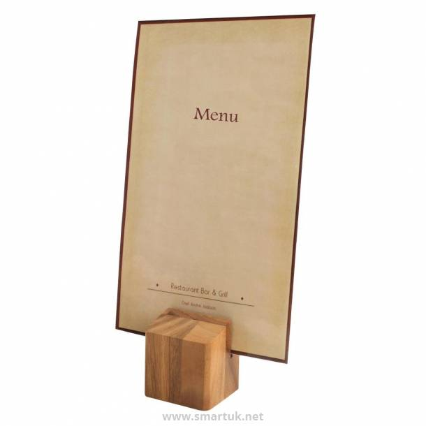 Wooden Menu Holder and Riser