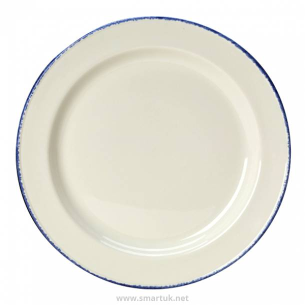 Steelite Blue Dapple Slimline Plates 255mm