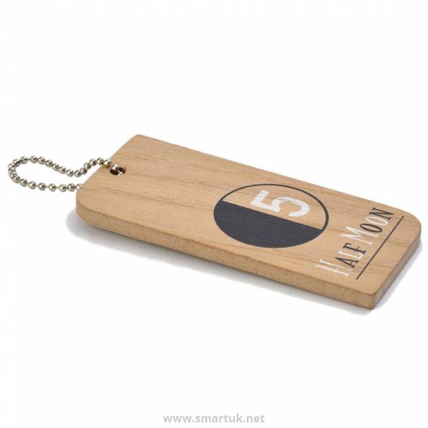 Wooden Hotel Key Fobs