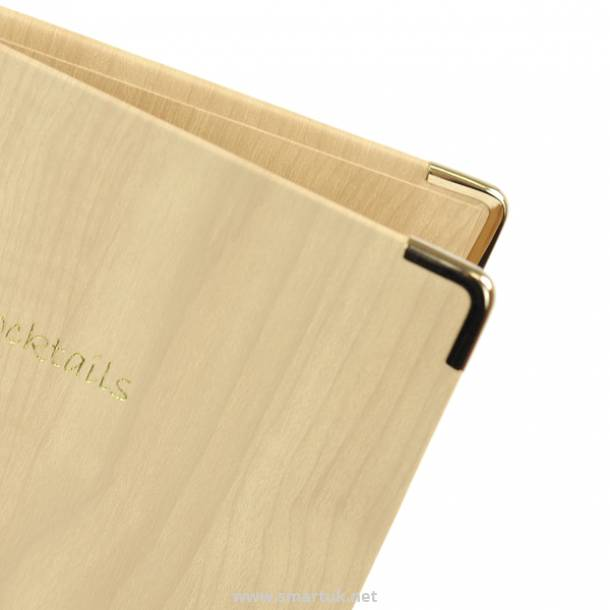 Wood-effect Guest Room Folders