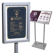 Menu Stands & Menu Display Cases