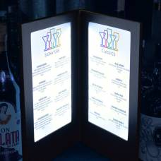 Illuminated LED Menu Covers