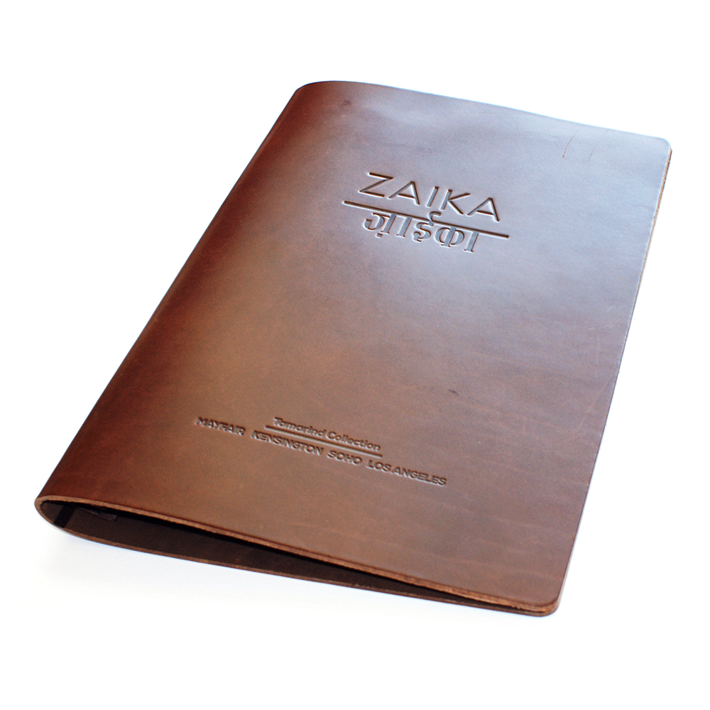 Saddle Hide Menu Covers Smart Hospitality Supplies