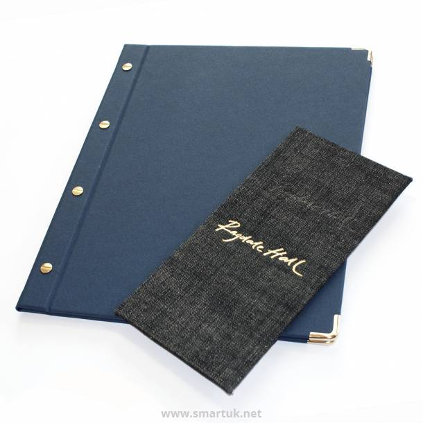 Denim Menu Covers