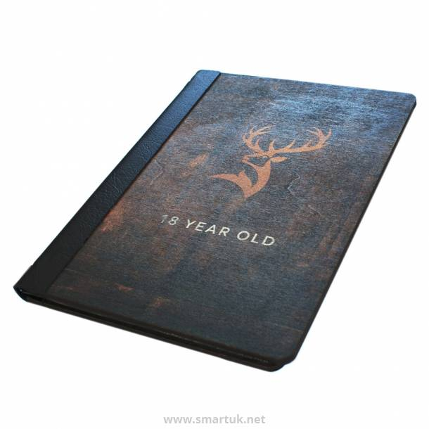 Digitally Printed Wood Veneer Menu Covers