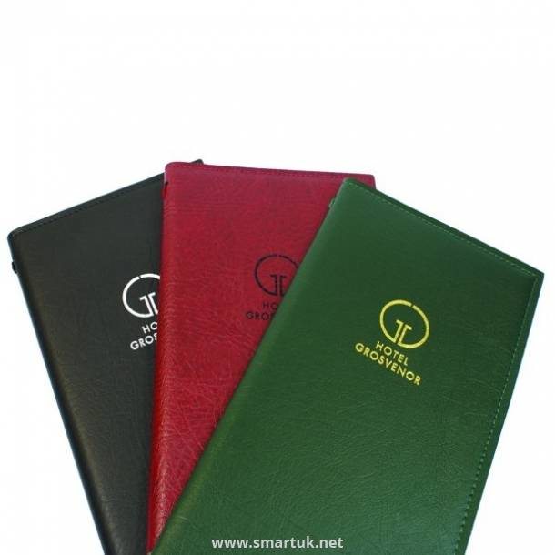 Elephant Grained Hide Menu Covers