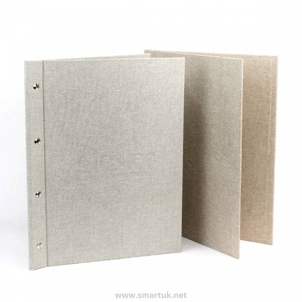 Hessian Menu Covers