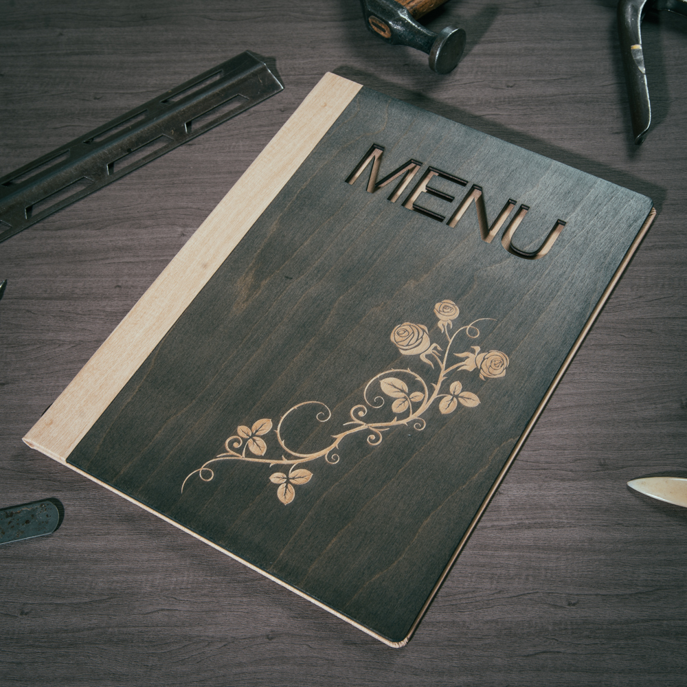 Wooden Menu Covers Laser Cut Smart Hospitality Supplies