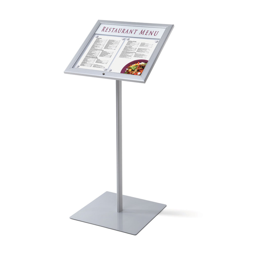 Stand Board Designs : Outdoor lockable menu stand smart hospitality supplies