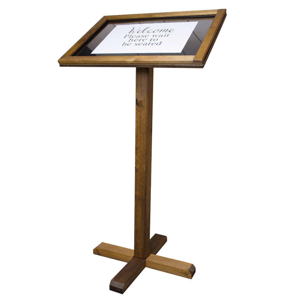 Rustic Chalkboard Menu Stand Smart Hospitality Supplies