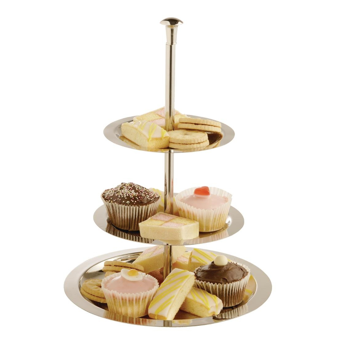 Stainless Steel 3 Tier Afternoon Tea Stand 280mm by Olympia-U802 - Smart Hospitality Supplies  sc 1 st  Smart Hospitality Supplies & Stainless Steel 3 Tier Afternoon Tea Stand 280mm by Olympia-U802 ...