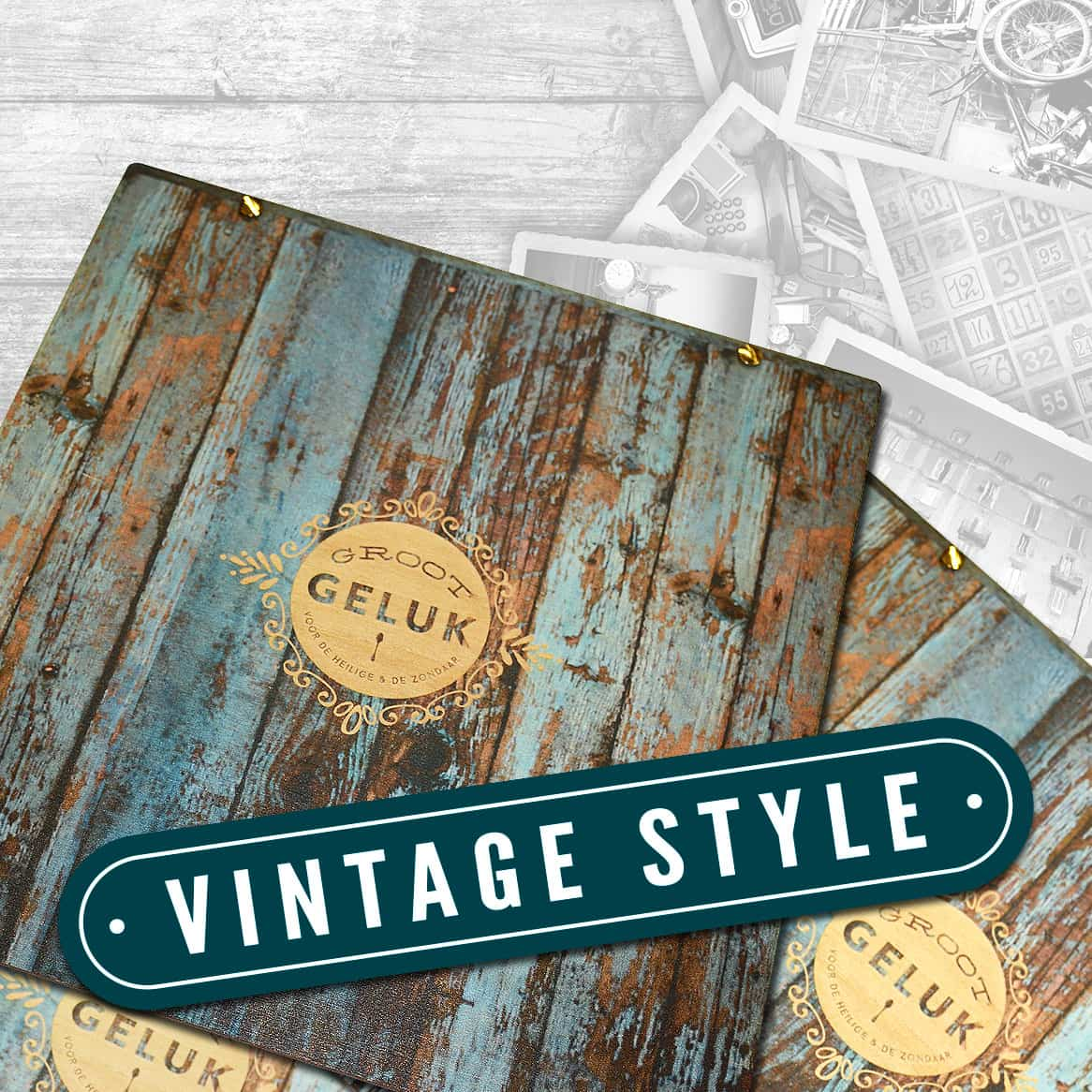 Vintage Style Menu Covers Banners