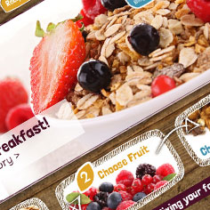 Ecommerce Web Design - Breakfast Mix