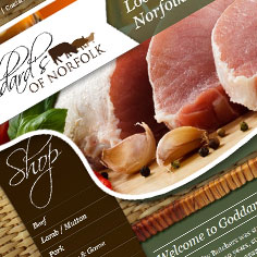 Ecommerce Web Design - Goddards Butchers