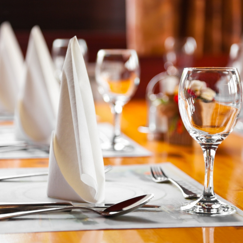 Table Setting with Smart Hospitality Supplies